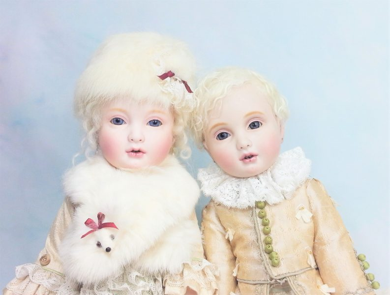 創作ビスクドール White Rabbit & Chouchou