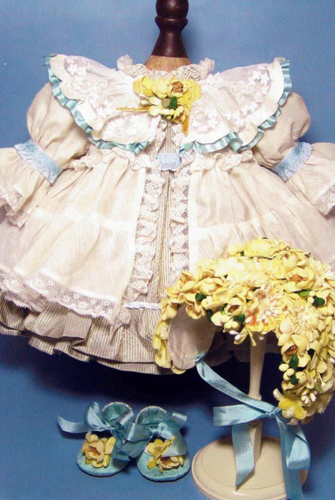 オーダーメイド|花のヘッドドレス・ドールドレス・ドールシューズのセット
