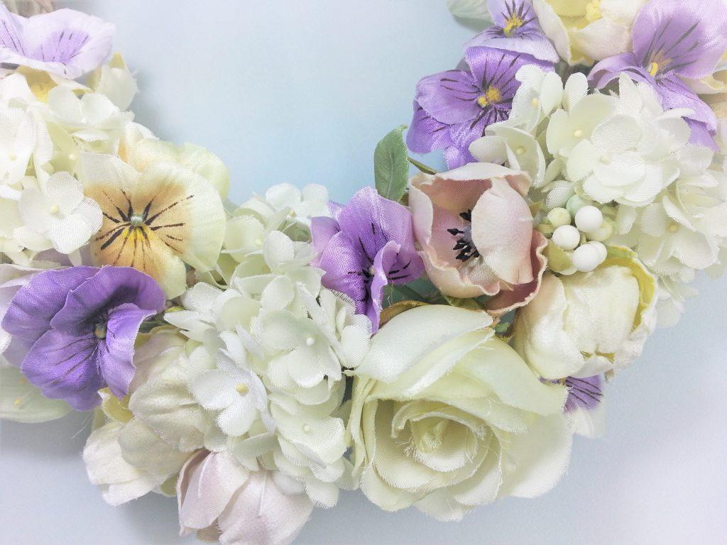 布花 ローズといろんな花のホワイトリース