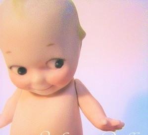 アンティーク レプリカドール キューピー/ Bisque Kewpie Doll