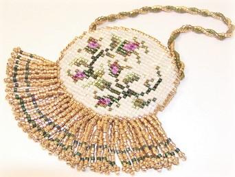 ドール小物|お人形のビーズ織りバッグ