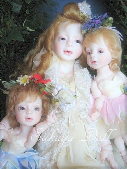 創作ビスクドール 少女と妖精