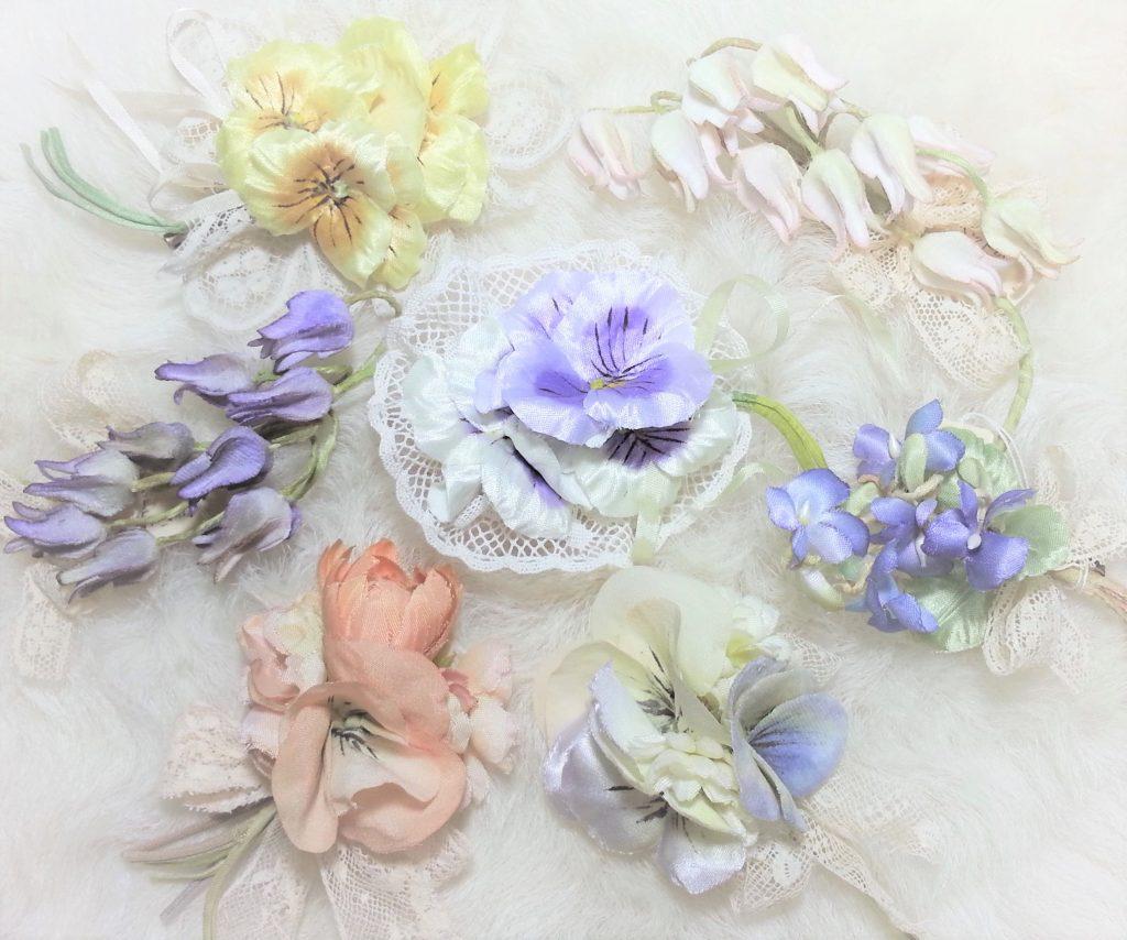 Uncreer~アンクレール~布花のコサージュなど、吉祥寺のKasagi様へ納品
