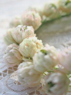 オーダー作品 シロツメクサの花かんむり