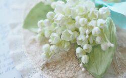 清楚なスズラン 布花